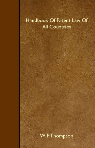 Handbook Of Patent Law Of All Countries ebook
