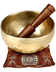 Ajuny Meditation Singing Bowl Tibetan Music Alternative Healing Therapy With Sound And Vibration Touch Bell Metal 6 Inch