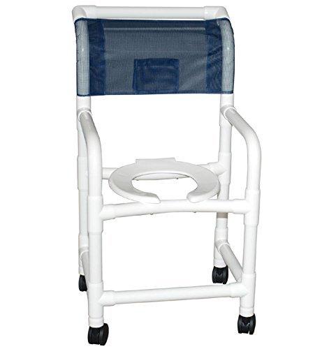 MJM 118-3TW-CB-DDA-SF Standard Shower Chair, Cushion Back...