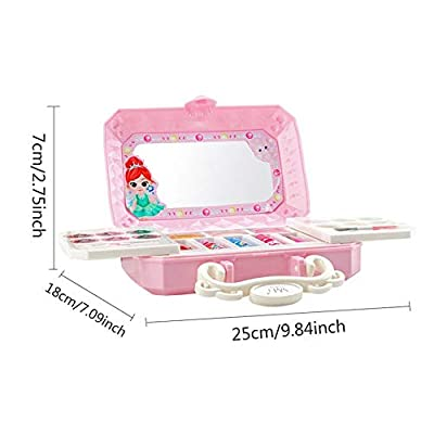 Glossrise Toys Make Up Kits Kids Girls Makeup Set Eco-Friendly Cosmetic Pretend Role Play Toy Playhouse Decor Kit, Girls Cosmetic Vanity Case 23pcs Eye Shadow, Blush, etc Non-Toxic: Home & Kitchen