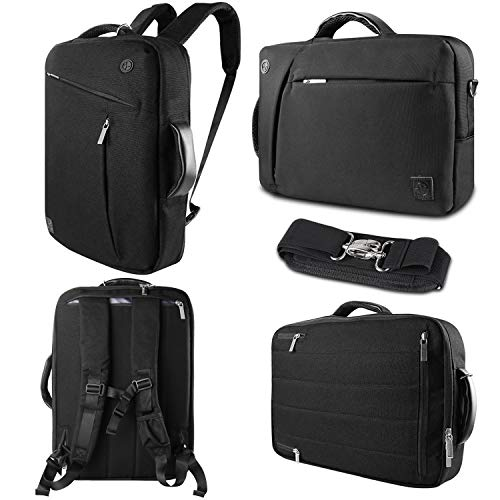 15.6 Inch Laptop Briefcase Portfolio Business Bag 3 In 1 Convertible Backpack Messenger Shoulder Bag 15 inch Computer Backpack for Men and Women