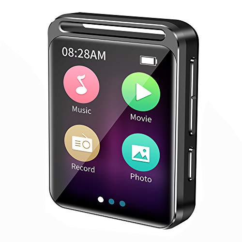 16GB Touch Screen MP3 Player, HiFi Lossless Sound Mini Music Player with FM Radio/Voice Recorder/E-Book, Supports up to 128GB, Earphone Included