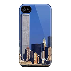 New ZTl15120FkJH World Trade Center New York City Skin Case Cover Shatterproof Case For Iphone 4/4s