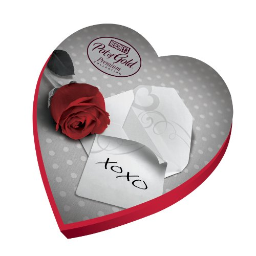 HERSHEY'S POT OF GOLD Assorted Premium Collection, Black & White Heart Box