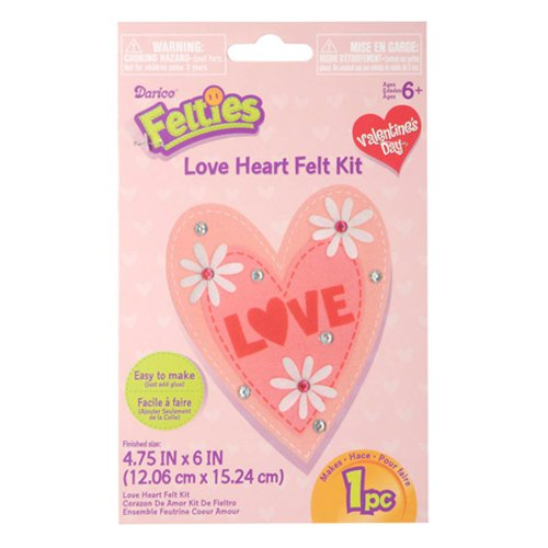 Felties Felt Activity Kit - Valentine's Day Love Heart