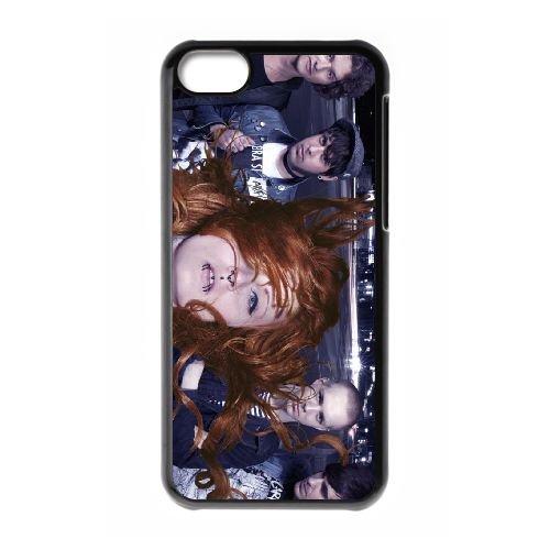 U9O62 Jennifer Rostock W4V8VW cas d'coque iPhone de téléphone cellulaire 5c couvercle coque noire II5PMW6JG