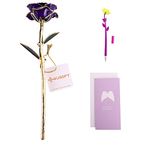24k Golden Rose Foiled Mother's Day Gift Lover Women Golden Rose Real Forever Flowers Wedding/Party Decoration