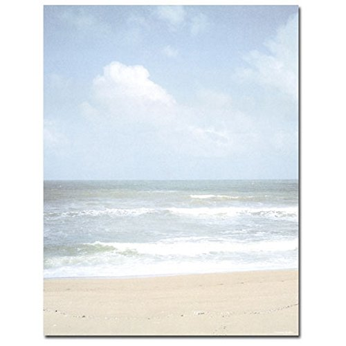 Palm Tree Stationary - 40 Beach Shoreline Letterhead Sheets