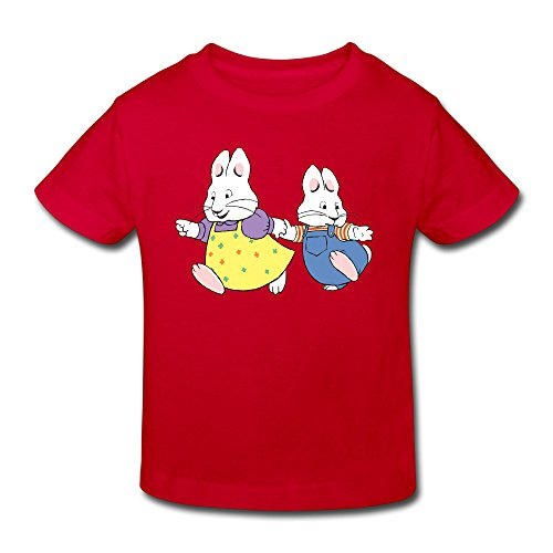 KNOT Funny Max And Ruby5 Kids Toddler T-Shirt Red US Size 3 Toddler