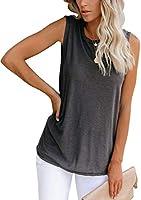 Bingerlily Women's Summer Tank Tops Sleeveless Crew Neck Casual Shirts