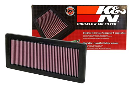K&N engine air filter, washable and reusable:  2007-2019 DS/Opel/Peugot/Vauxhall/Mini/Citreon L4 1.6L (DS3, DS4, DS5, DS7, Grandland, 3008, 308, 5008, 508, Cooper Countryman, C5, C4L) 33-2936