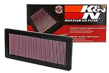 K&N 33-2936 Filtro de Aire Coche, Lavable y Reutilizable