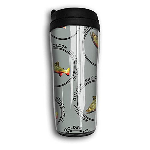 Rainbow-Golden-Brook-Trout Wide Mouth Travel Mugs Office Sports Water ()
