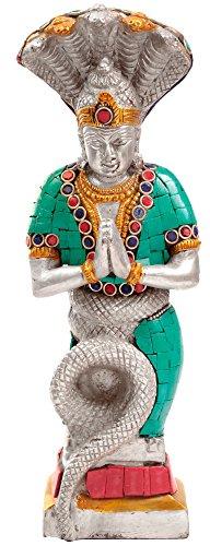 CraftVatika grande latón serpiente Diosa Nag Kanya Estatua Idol diosa de la fertilidad Mansa Devi Escultura Patanjali figura...