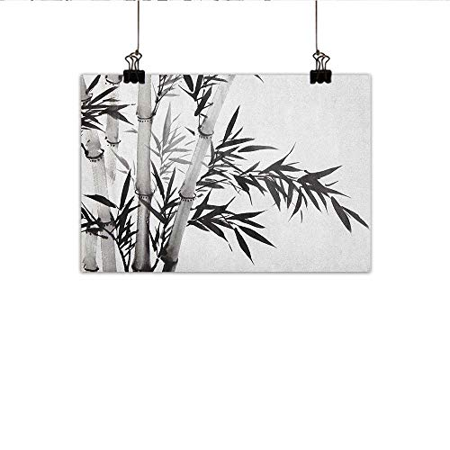 Littletonhome Bamboo Wall Art Decor Poster Painting Bamboo Tree Image Traditional Chinese Calligraphy Style Asian Culture Theme Decorations Home Decor 20