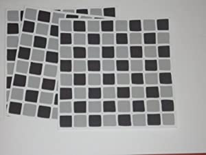 10 x Black & Grey Mosaic Tile Transfers / Stickers ...
