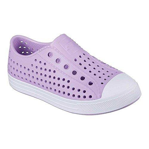 Lavender Girls Shoes - Skechers Girls Lightweight EVA Bright Slip On Sneaker Shoes (4 M US Little Kid, Lavender Shimmer)