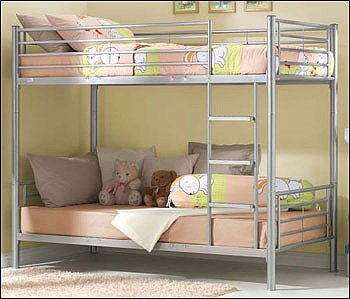 Metal 3ft Tommi Bunk Bed Converts To 2 Single Beds Amazon Co Uk