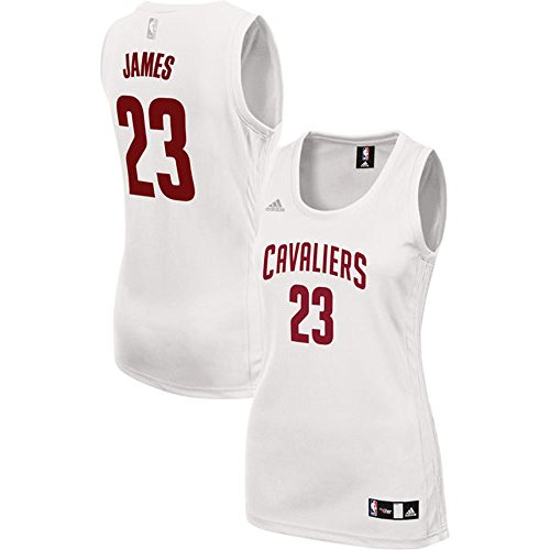 Women's 23 LeBron James Cleveland_Cavaliers Road Jersey White color Size (Lebron James Authentic Home Jersey)
