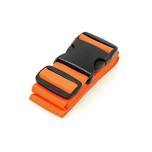 BlueCosto Luggage Straps Suitcase Belt Travel Accessories, 1-Pack, Orange