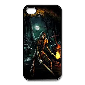 HD Beautiful image for iPhone 4 4s Cell Phone Case Black trine game HOR8280525