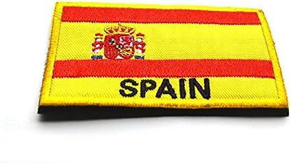 Remiendo de la divisa de la bandera nacional de 2pcs 3D bordado militar Brazalete Parte trasera Parches España: Amazon.es: Belleza