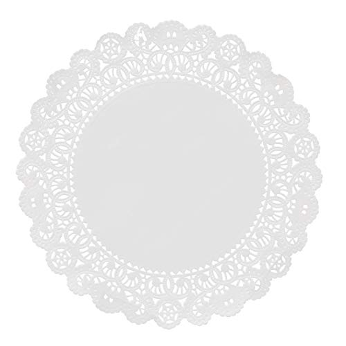 Hygloss Products Round Paper Doilies - Decorative, White Lace Doilies - Disposable - Food Grade Safe - 8 Inches - 100 Pack ()