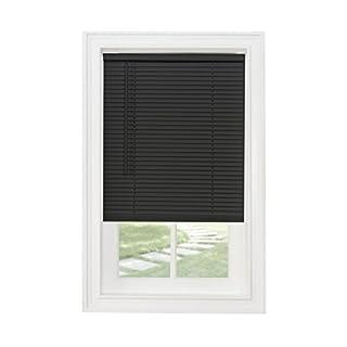 "Achim Home Furnishings Cordless GII Morningstar 1"" Light Filtering Mini Blind, Length 72inch Drop X Width 23inch, Black"