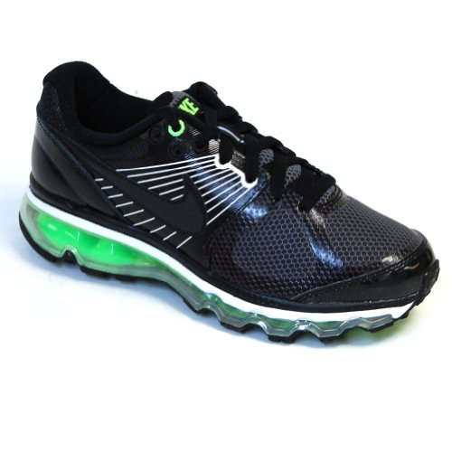 - Nike Air Max 2010 Big Kids Style Shoes 414309, Black/Black-Electric Green-White, 6