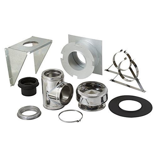 SuperVent 11-Piece Chimney Pipe Accessory Kit for Wall Support - Pipe Wall Support Band