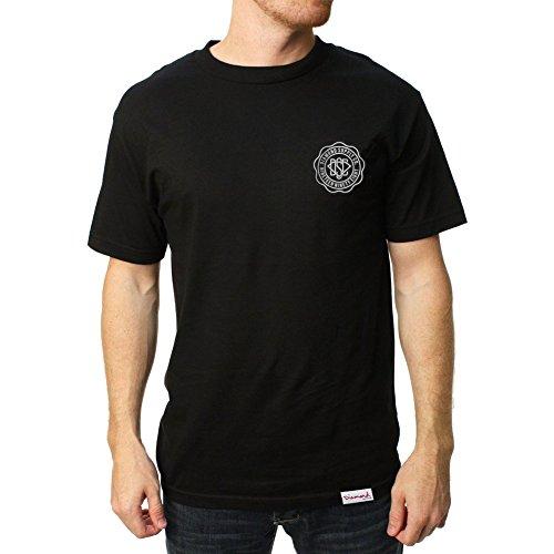Diamond Supply Co. Men's DSC Seal SS T Shirt Black - Black Shirts Ss