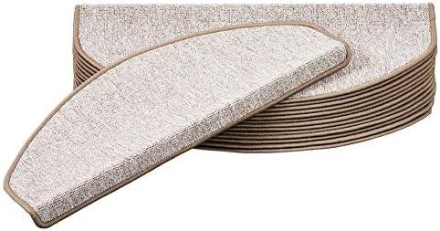 Semi-Circulaire Snapstyle Strong Trend Boucles Tapis Marche escalier Taupe - Simple ou par Lot de 15