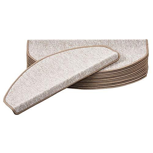 Snapstyle Trend Schlinge Stufenmatte Stufenmatte Stufenmatte Strong Taupe (halbrund) einzeln oder im 15er Set B07NW3XSXZ Stufenmatten a75343