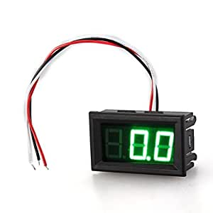 SonlineDC 0V-200V Mini Green Digital Voltmeter Tester Three-Wire