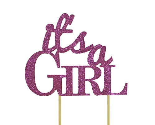 All About Details Pink It's-a-girl Cake Topper