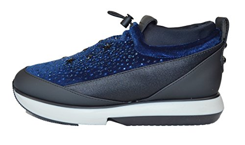 Alexander Smith, Damen Sneaker Blau Blu + Strass