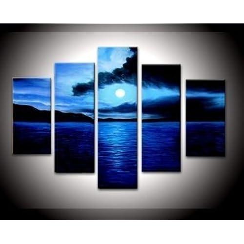 Navy Blue Canvas Art Amazon Com