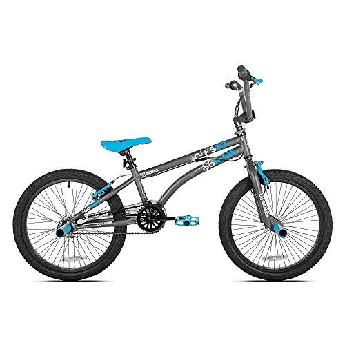 X Games FS20 Single Speed 20 Inch Wheel Freestyle Trick BMX Bike, Dark Grey (Best Bmx Bikes Under 200)