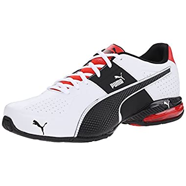 PUMA Men's Cell Surin 2 Cross-Training Shoe, White/Black/Flame Scarlet, 10.5 M US