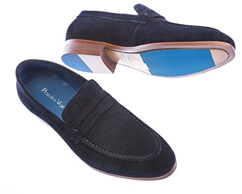 Paolo Vandini Travon Suede Loafer in Navy