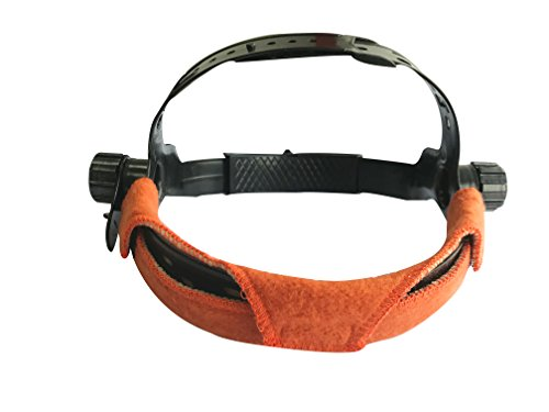 Hard Hat Band - AllyProtect Flame Retardant Soft Feeling & Sweat Absorbing Hard Hat Sweatband/Comforter Replacement with Hoop-loop Closure Match Use with Most Major Brand Hard Hat-5pcs in Pack (Russet Color)