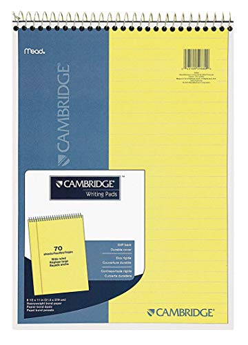 Mead Cambridge Legal Pad, 8-1/2 x 11-3/4 in, Navy