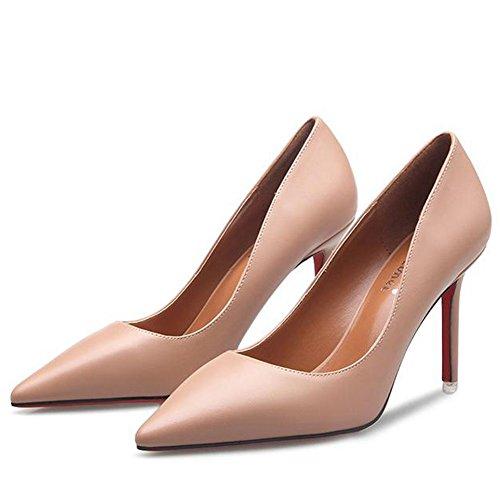 Résistante Aiguilles Antiglisse Pointu Rose Femme Talons 34 Soirée Escarpin Travail Bout Mode Chaussure Pompes YaXEx