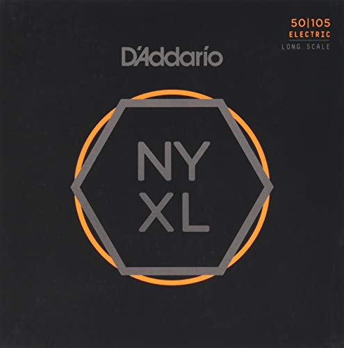 D'Addario NYXL50105 Nickel Wound Bass Guitar Strings, Medium, 50-105, Long Scale from D'Addario