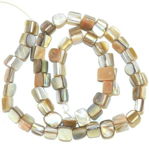 MP993 Natural Brown Small 4mm -7mm Tri-Tip Nugget Mother of Pearl Shell Bead 15'' Crafting Key Chain Bracelet Necklace Jewelry Accessories Pendants