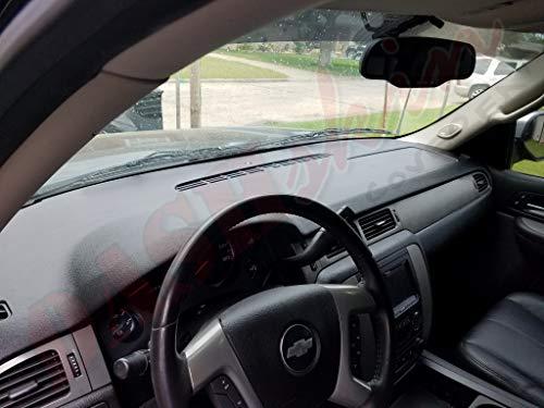DashSkin Molded Dash Cover Compatible with 07-14 GM SUVs w/o Dash Speaker in Dark Titanium by DashSkin (Image #4)