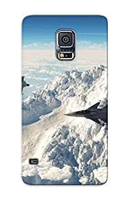 S5 Scratch-proof Protection Case Cover For Galaxy/ Hot Mountains Clouds Aircraft Fighter Jet Phone Case