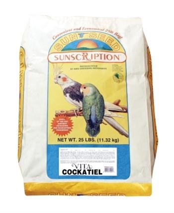 Sun Seed Company Cockatiel Vita-Mix 25lb by Sunseed Sunscription