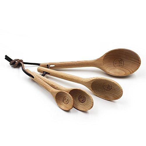 ASAPS Beechwood Measuring Spoons Set of (Beechwood Wood Spoon)