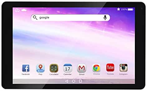 AOSON R102 10-Inch Android 6.0 Marshmallow MTK8163A-B Quad Core Tablet PC 1GB RAM 16GB internal Storage 1280x800 IPS Touch Screen Dual Camera Wi-Fi Bluetooth White rear